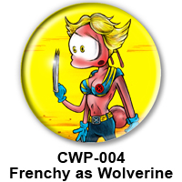 BUTTON 00010 - FRENCHY as Wolverine PREVIEW - WEB