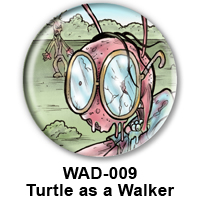 BUTTON 00025 - Turtle as Zombie PREVIEW - WEB