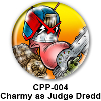 BUTTON 00032 - Charmy as Judge Dredd PREVIEW- WEB