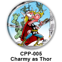 BUTTON 00033 - Charmy as Thor PREVIEW- WEB