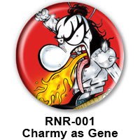 BUTTON 00041 - Charmy as Gene Simmons - KISS PREVIEW - WEB