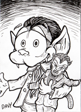 INKtober - Day 12 - Flimp as Eddie Munster - SHERPA