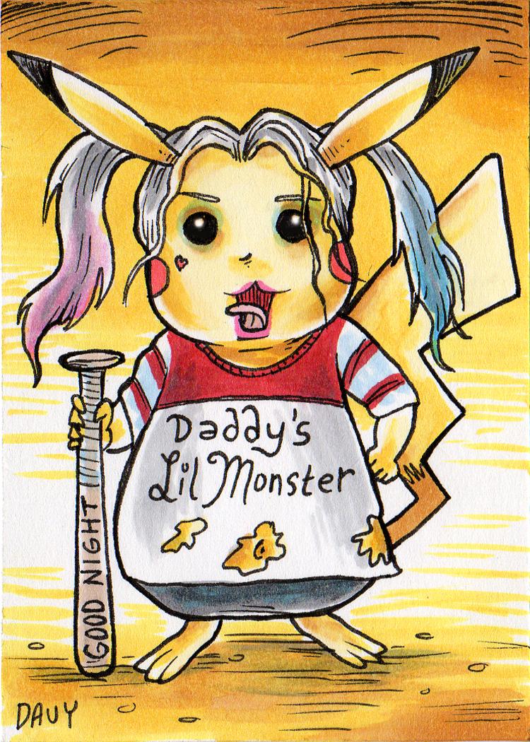 Harley Pika Quinn Pikachu mashup