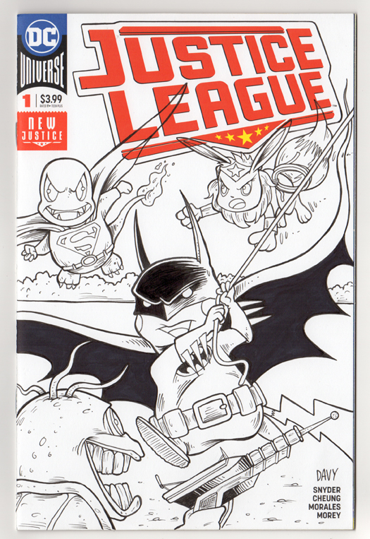 Pokemon as the Justice League inked