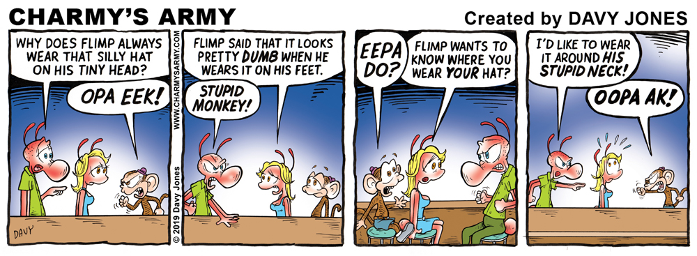 Charmy's Army - the comic strip making people believe dreams do, indeed, come true.