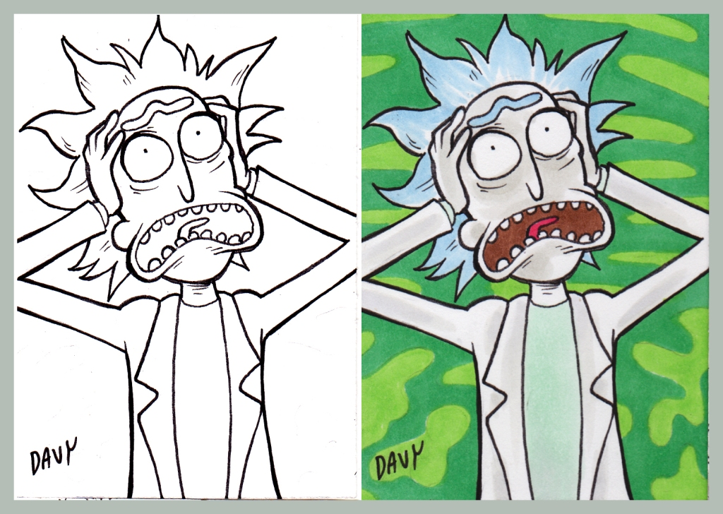 Original Rick and Morty art by Davy Jones