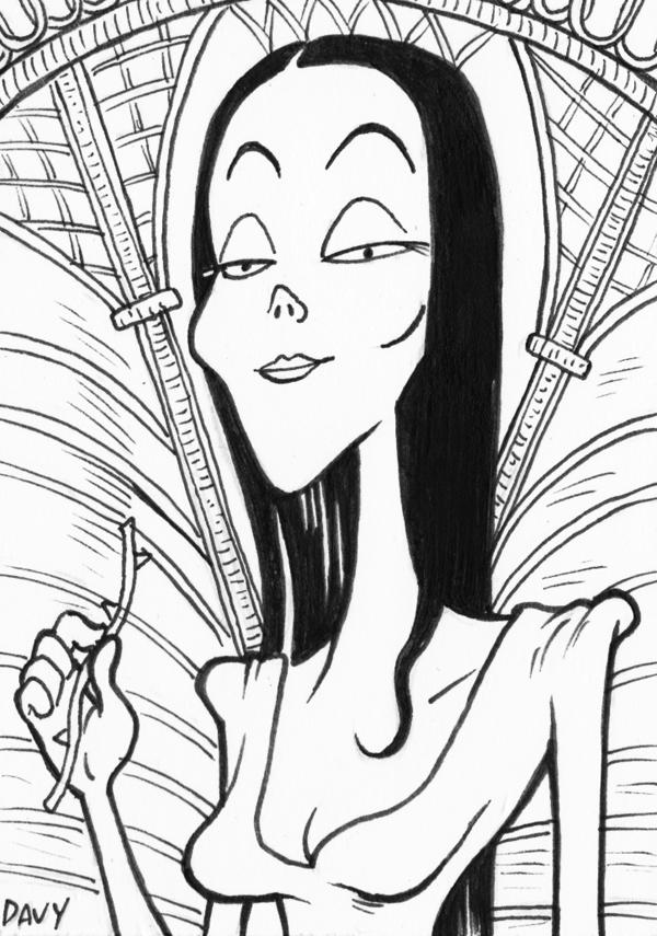 INKtober - Day 4 - Morticia Addams