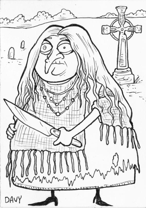 INKtober Day 8 - Grandmama from The Addams Family