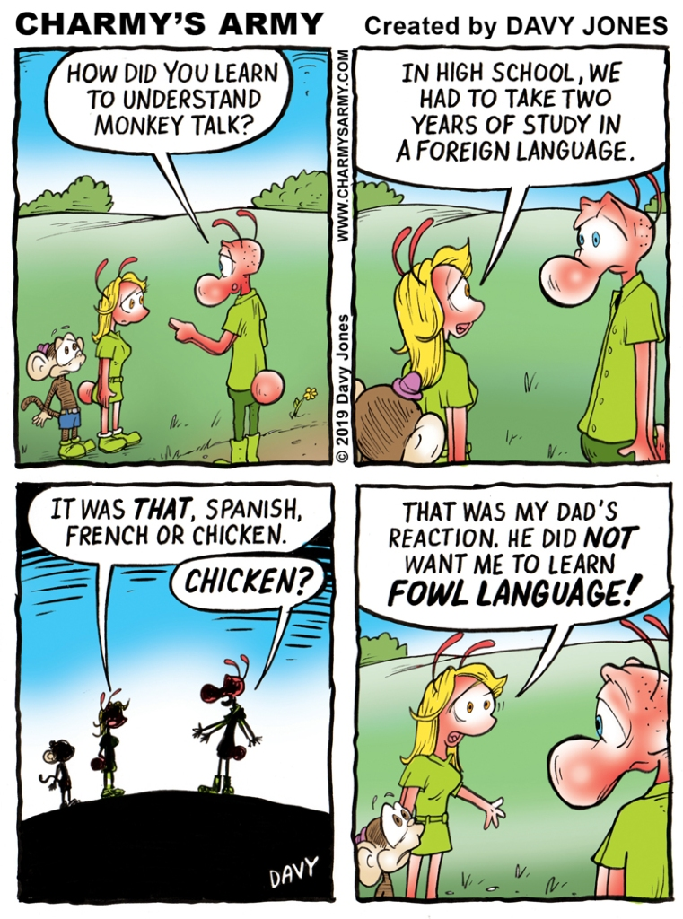 What an amazingly bad pun! Today's comic strip is either a masterpiece of humor... or a master piece of #$%@.....