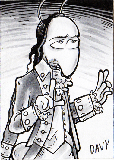 Weaver from my comic strip Charmy's Army as Lin-Manuel Miranda's Alexander Hamilton