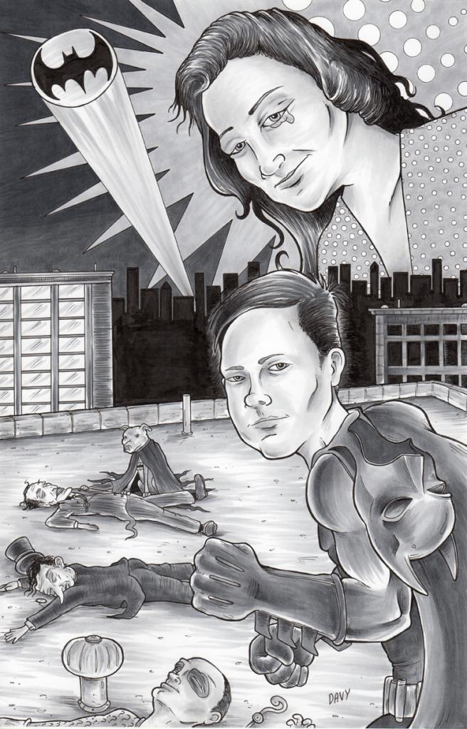 Family Portrait drawn for Comicpalooza with Batman Theme