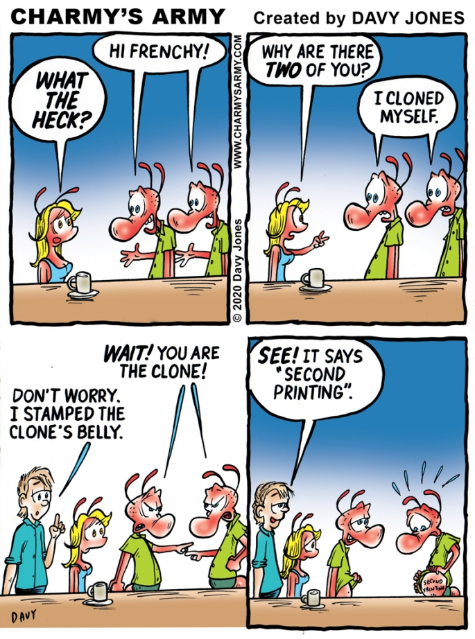 Charmy gets cloned in today's comic strip.