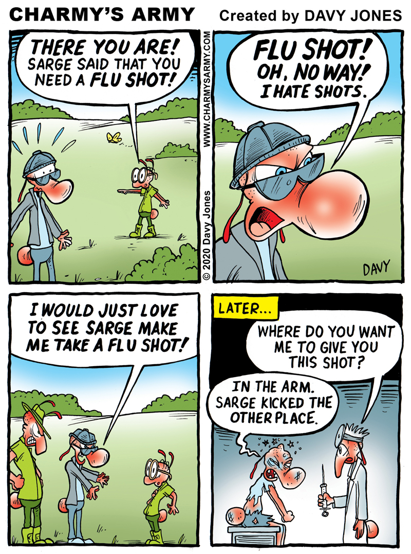 Charmy gets a well deserved shot in the arm in today's comic strip.