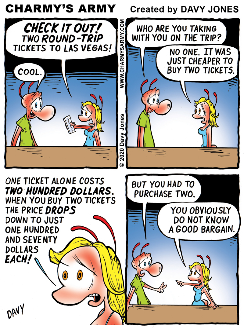Frenchy is terrible at math in today's comic strip.