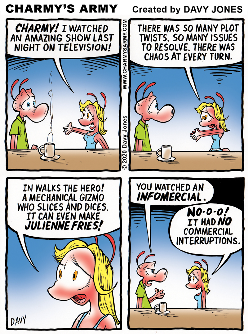 Frenchy is so gullible in today's comic strip.