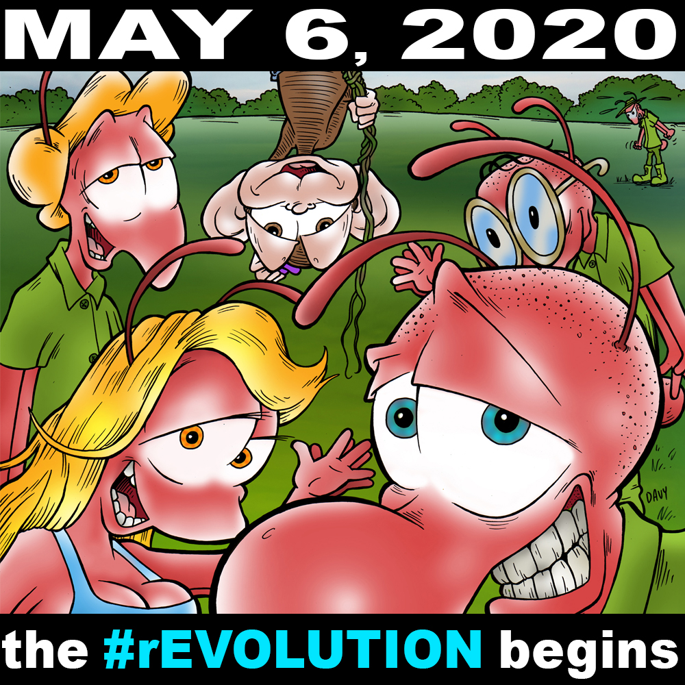 My comic book Charmy's Army Year One debuts on Comixology on May 6, 2020 and will collect all 52 comic strips from my first year running in weekly newspapers across America!