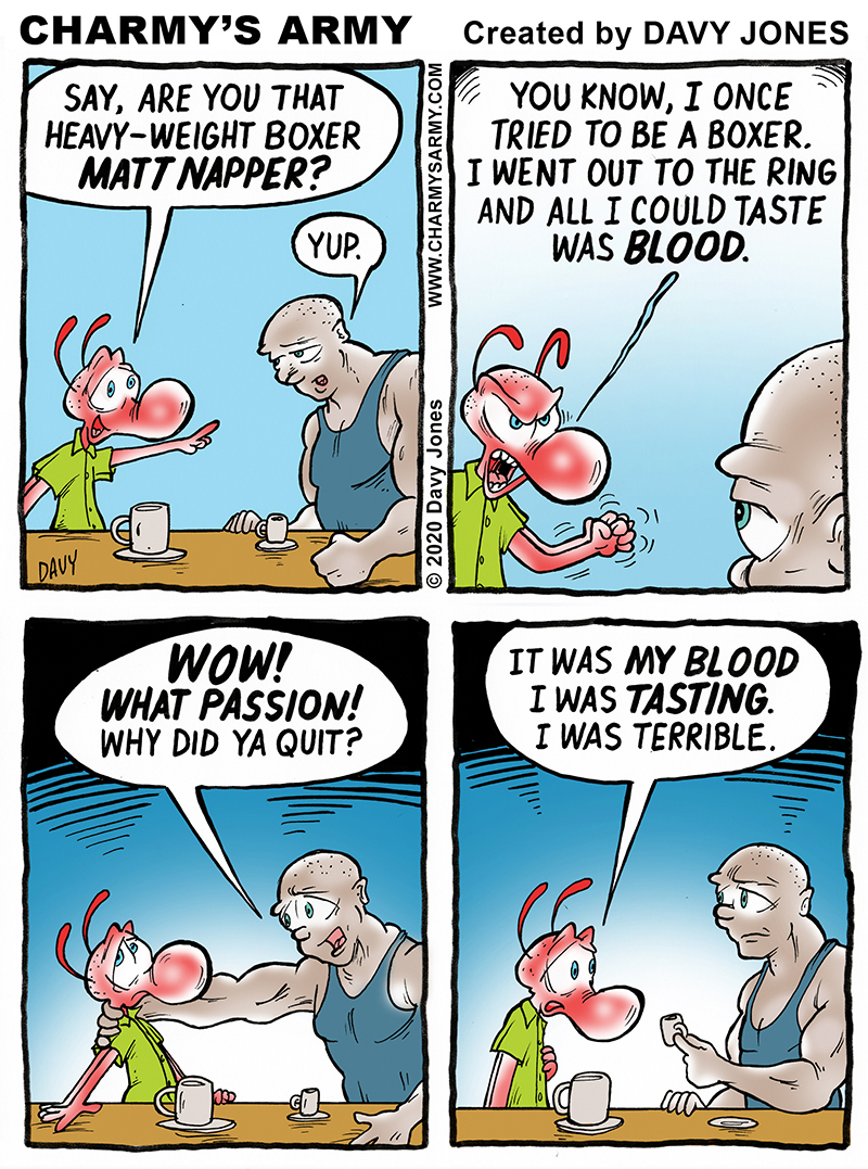 Classic. knock-out gag in today's comic strip!