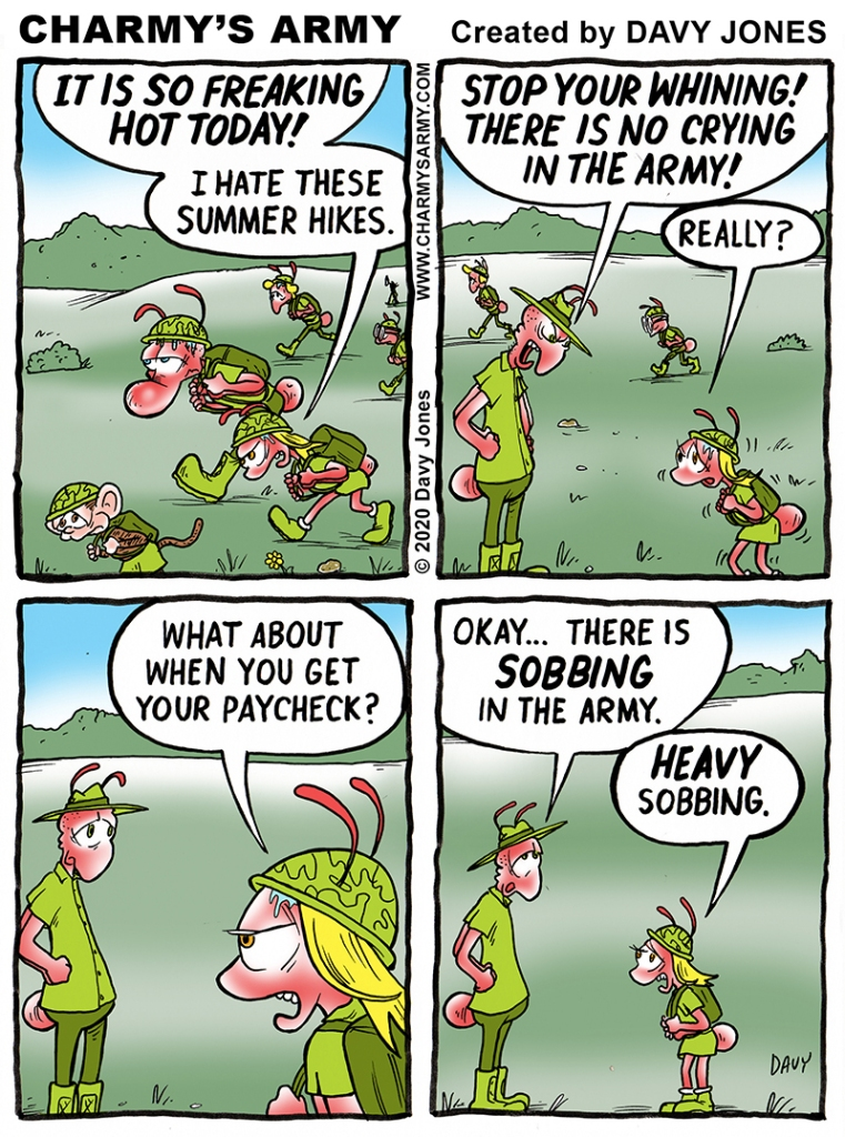 Frenchy gets one in on sarge in today's comic strip