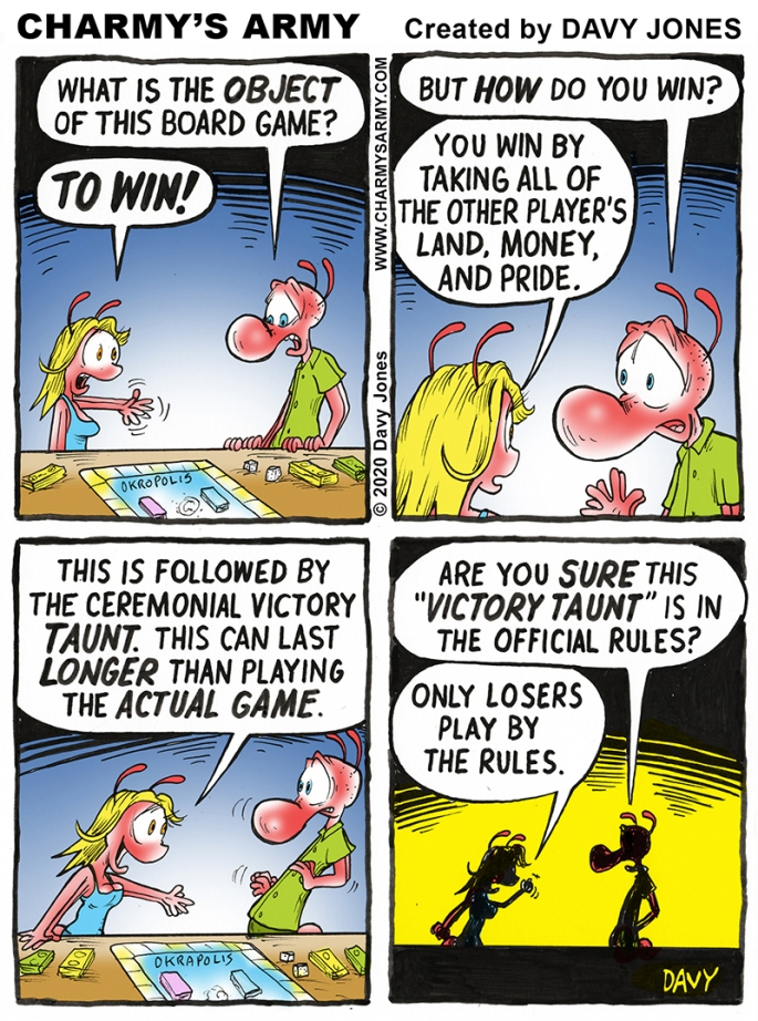 Frenchy Plays an Evil Game in today's Comic Strip