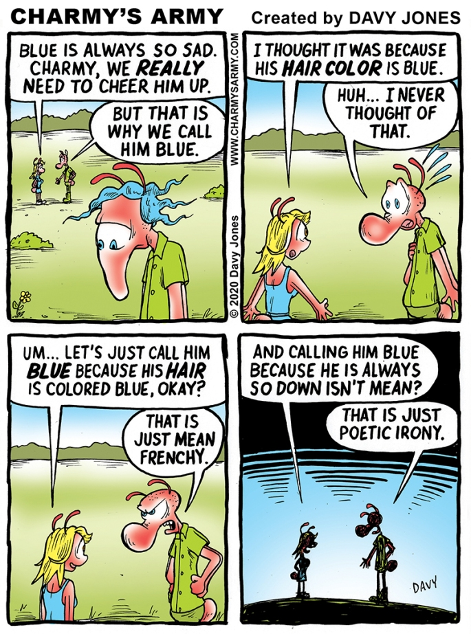 It's a Blue Day in Today's Comic Strip
