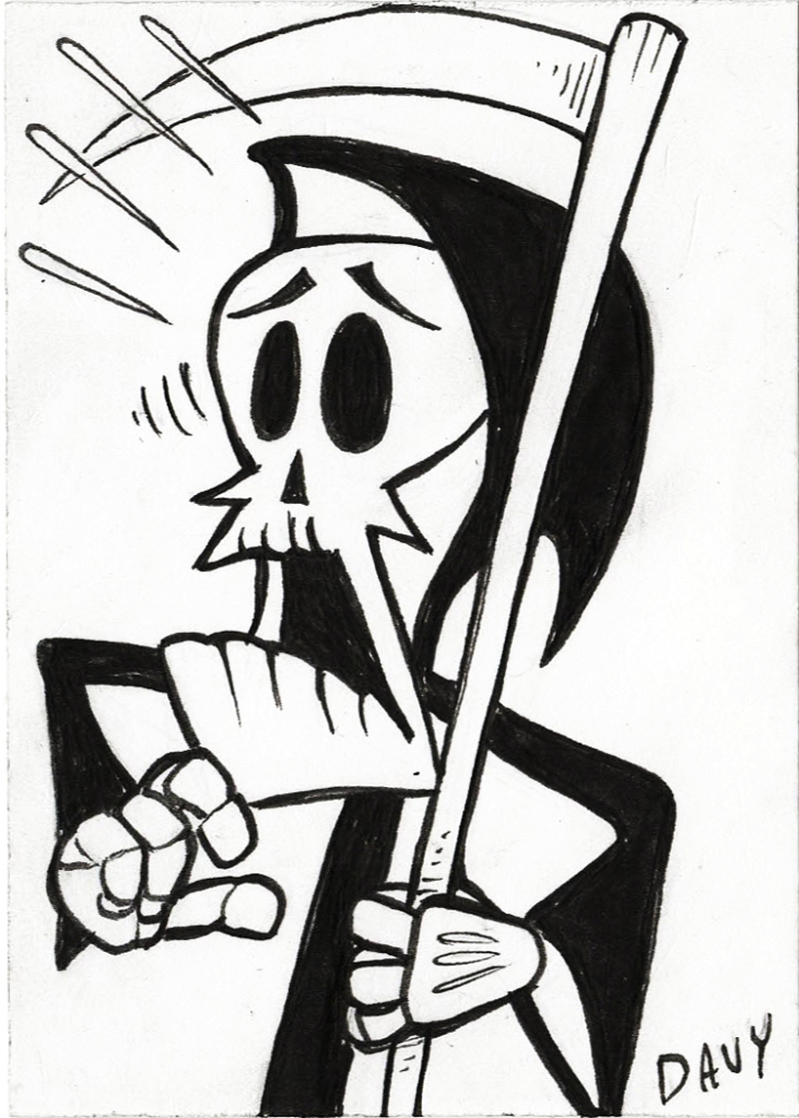"INKTOBER 2020 – GRIM FROM ""THE GRIM ADVENTURES OF BILLY AND MANDY"""