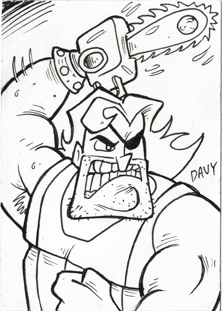 "INKtober 2020 -  Day 12 - Hoss Delgado from ""The Grim Adventures of Billy and Mandy"""