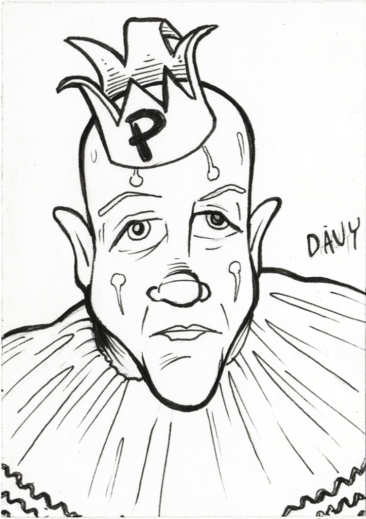 INKtober Day 4 - Puddles Pity Party
