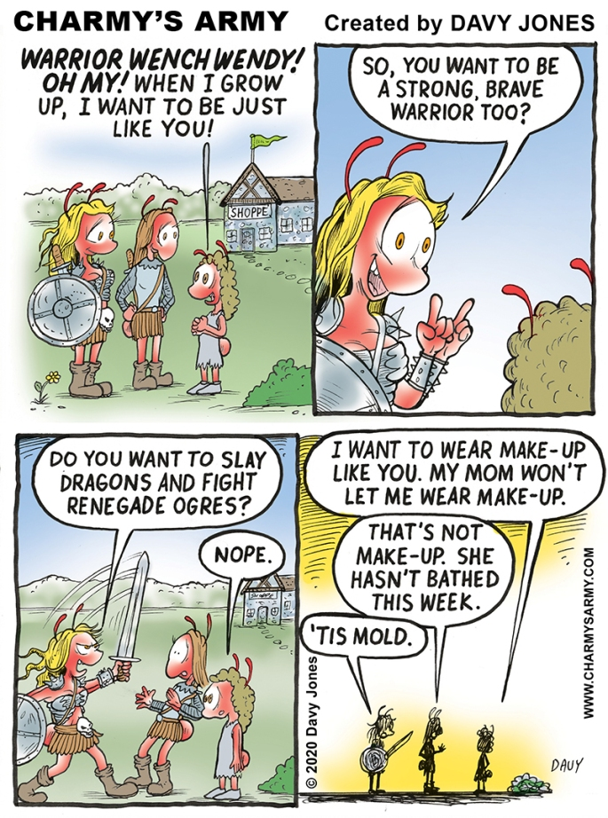 Warrior Wench Wendy Greets a Young Fan in Today's Comic Strip