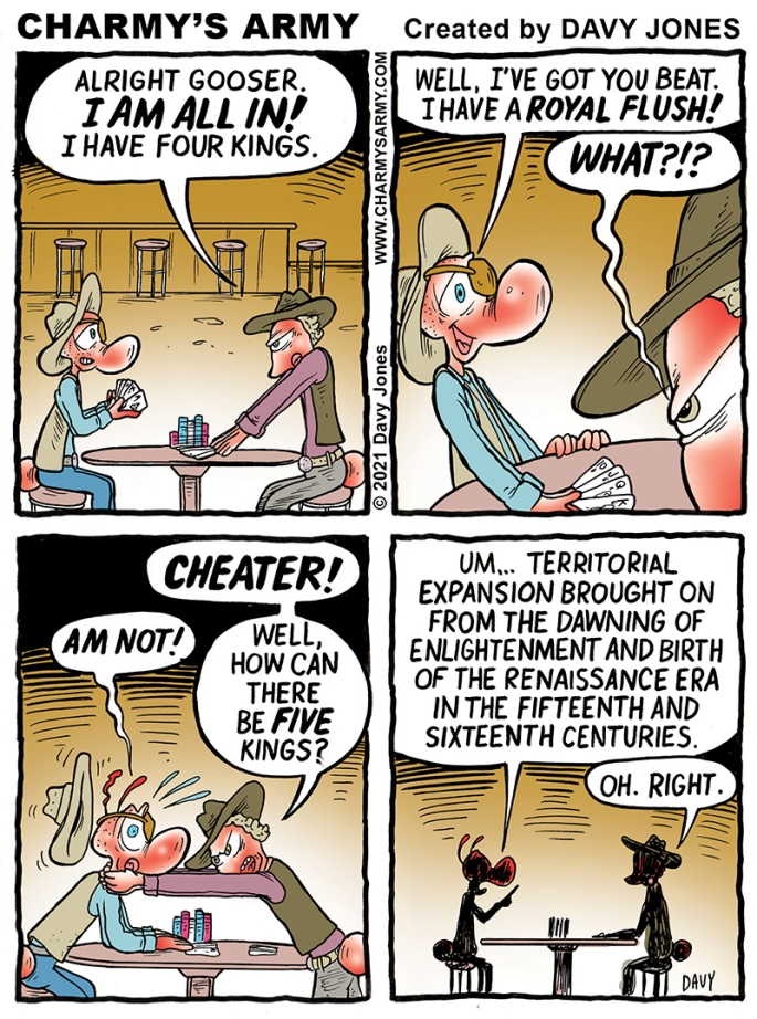 Gooser loves playing poker in today's comic strip.
