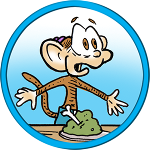 Meet Flimp the Chimp. What is the best addition you can add to a comic strip about a bunch of ants? A monkey, of course! How do you make the situation work? You have the monkey talk gibberish that only Frenchy can understand. Yes. It is a plan destined for failure, yet the situation fits like a glove!